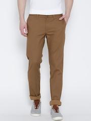 Indian Terrain Men Brown Brooklyn Fit Chino Trousers