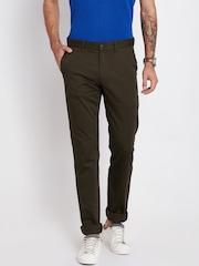 Indian Terrain Men Coffee Brown Brooklyn Fit Casual Trousers