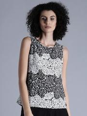 Kook N Keech Women Black & White Printed Tank Top
