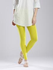W Lime Green Ankle-Length Leggings