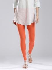 W Orange Ankle-Length Leggings