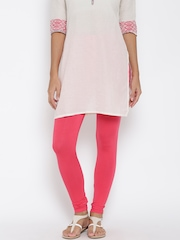 AURELIA Coral Pink Churidar Leggings
