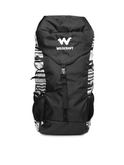 Wildcraft Unisex Black & Grey Printed Rucksack