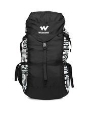 Wildcraft Unisex Black& Grey Printed Rucksack