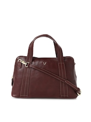 Hidesign Maroon Leather Handbag