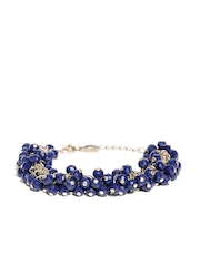 Accessorize Gold-Toned & Navy Beaded Bracelet