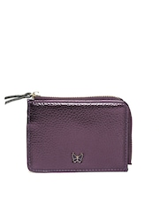 Accessorize Women Purple Glossy Card Holder