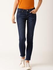 DressBerry Women Blue Skinny Fit Mid Rise Clean Look Jeans