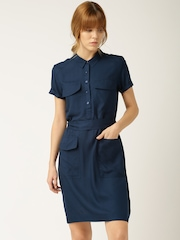 DressBerry Navy Shirt Dress