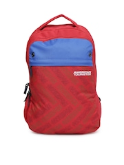 AMERICAN TOURISTER Unisex Red Printed Backpack
