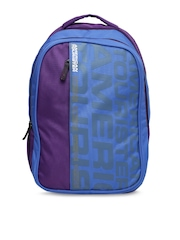 AMERICAN TOURISTER	Unisex Purple & Blue Backpack