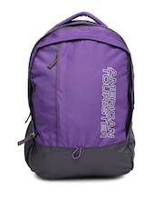 AMERICAN TOURISTER Unisex Purple & Grey Backpack