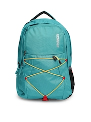 AMERICAN TOURISTER Unisex Turquoise Blue Laptop Backpack