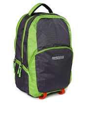 AMERICAN TOURISTER Unisex Green & Grey Laptop Backpack