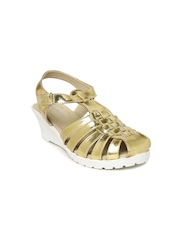 Kittens Girls Gold-Toned Wedges