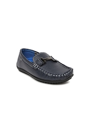 Kittens Boys Navy Loafers with Perforations