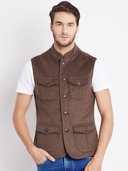 Numero Uno Brown Sleeveless Jacket
