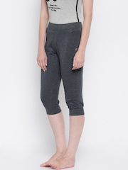 SDL by Sweet Dreams Charcoal Grey Lounge Capris F-LLC-8129