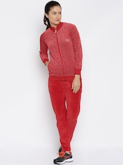 SDL by Sweet Dreams Red Printed Smart Fit Tracksuit