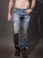 Roadster Men Blue Skinny Fit Mid-Rise Jeans
