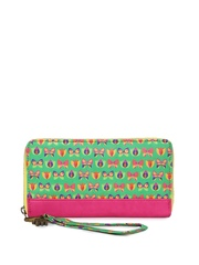 Chumbak Women Green & Pink Printed Wallet