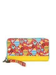 Chumbak Women Red & Yellow Printed Wallet