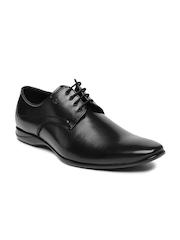 Arrow Men Black Barnet Square-Toed Derby Shoes