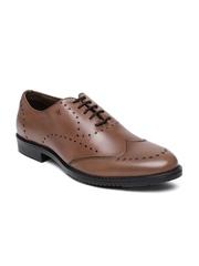 Arrow Men Brown Luke Genuine Leather Brogue Shoes