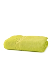 ELLE DECOR Lime Green Cotton 500 GSM Bath Towel