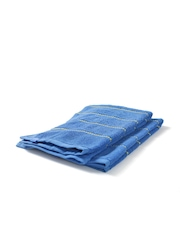 ELLE DECOR Set of 2 Blue Striped Cotton 400 GSM Hand Towels