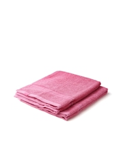 ELLE DECOR Set of 2 Pink Cotton 500 GSM Hand Towels