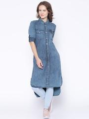 Tokyo Talkies Blue Denim Tunic