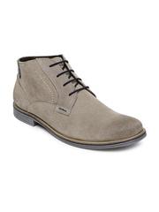 Numero Uno Men Taupe Suede Boots