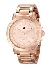 Tommy Hilfiger Women Rose Gold-Toned Dial Watch NATH1781396J