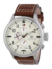 Tommy Hilfiger Men Cream-Coloured Dial Watch NATH1790684J