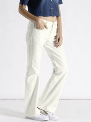 G-STAR RAW Women Off-White Boyfriend Fit Clean Look Jeans