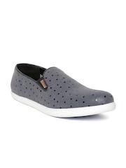 Numero Uno Men Blue Printed Slip-On Sneakers