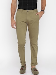 U.S. Polo Assn. Men Khaki Slim Fit Chinos Trousers