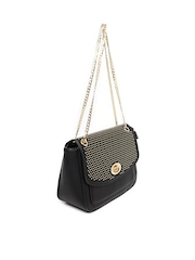 Paprika by Lifestyle Black Sling Bag with Metallic Studs