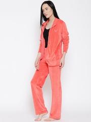Kanvin Orange Velvet Finish Nightsuit KAW15239A