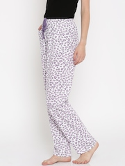 Kanvin White Printed Lounge Pants KSS458E