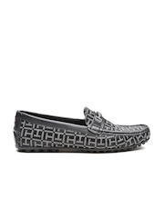 Tommy Hilfiger Men Black Patterned Loafers