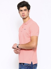 Pepe Jeans Men Pink Solid Polo T-Shirt