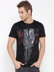 Antony Morato Men Black Printed Round Neck T-shirt