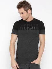 Antony Morato Men Black Colourblocked Round Neck T-shirt