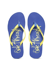 Sole Threads Women Yellow & Blue Flip-Flops