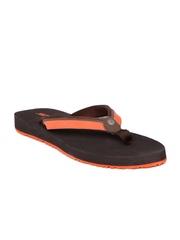 Sole Threads Women Orange & Brown Flip-Flops