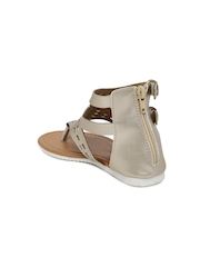 Juniors by Lifestyle Girls Muted Gold-Toned Cut-Out High-Top Flats