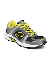 Lotto Men Black & Grey Running Shoes