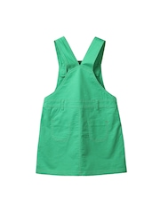 Beebay Girls Green Dungarees with Embroidered Detail